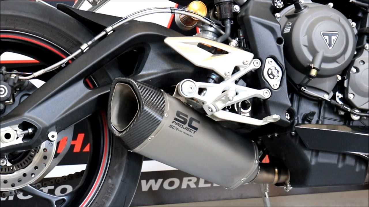 street triple 765 sc project sc1 r exhaust euro4 version youtube. Black Bedroom Furniture Sets. Home Design Ideas