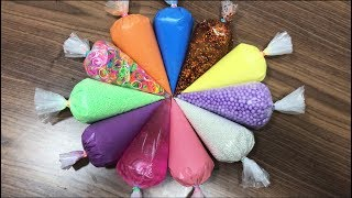 How To Make Slime with Pipping Bags! Mixing Random Things Into New Slime ! Boom Slime