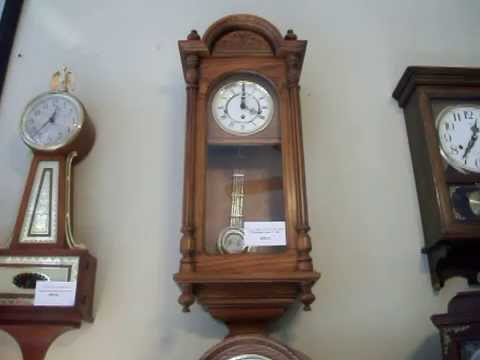 howard miller solid oak westminster chime wall clock circa