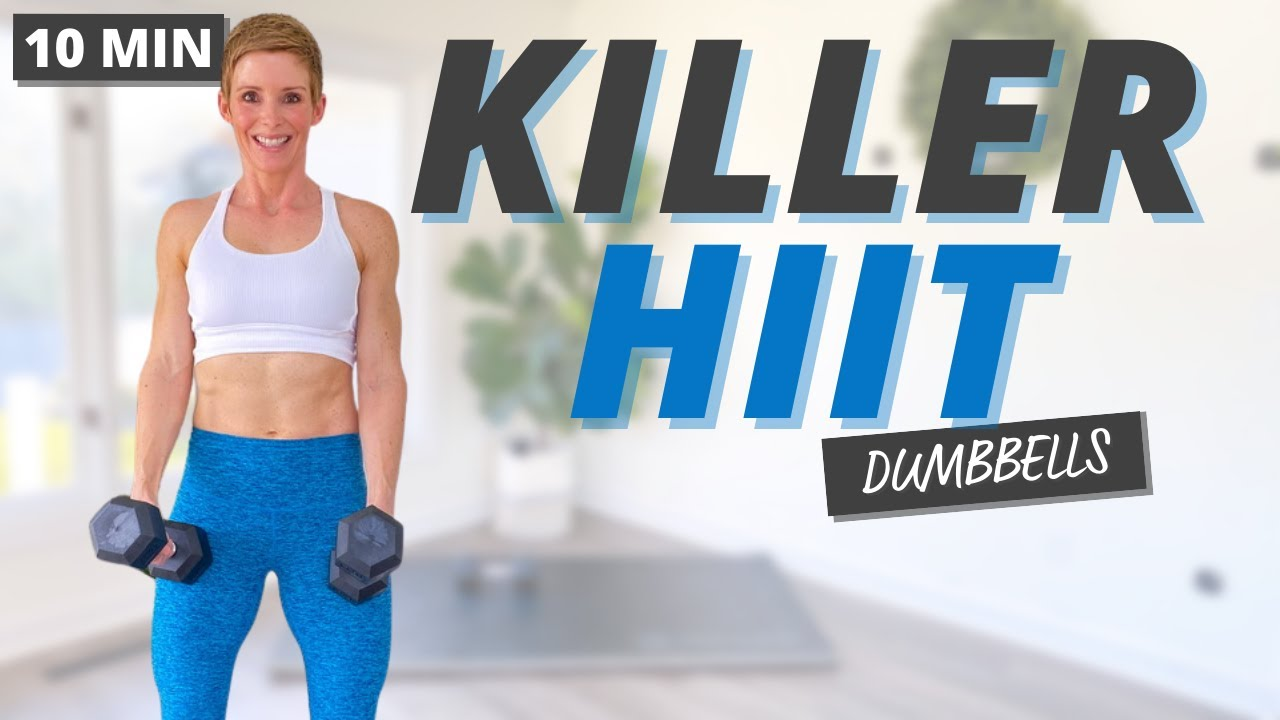 10 Min Get Lean and Build Muscle HIIT Workout with Dumbbells