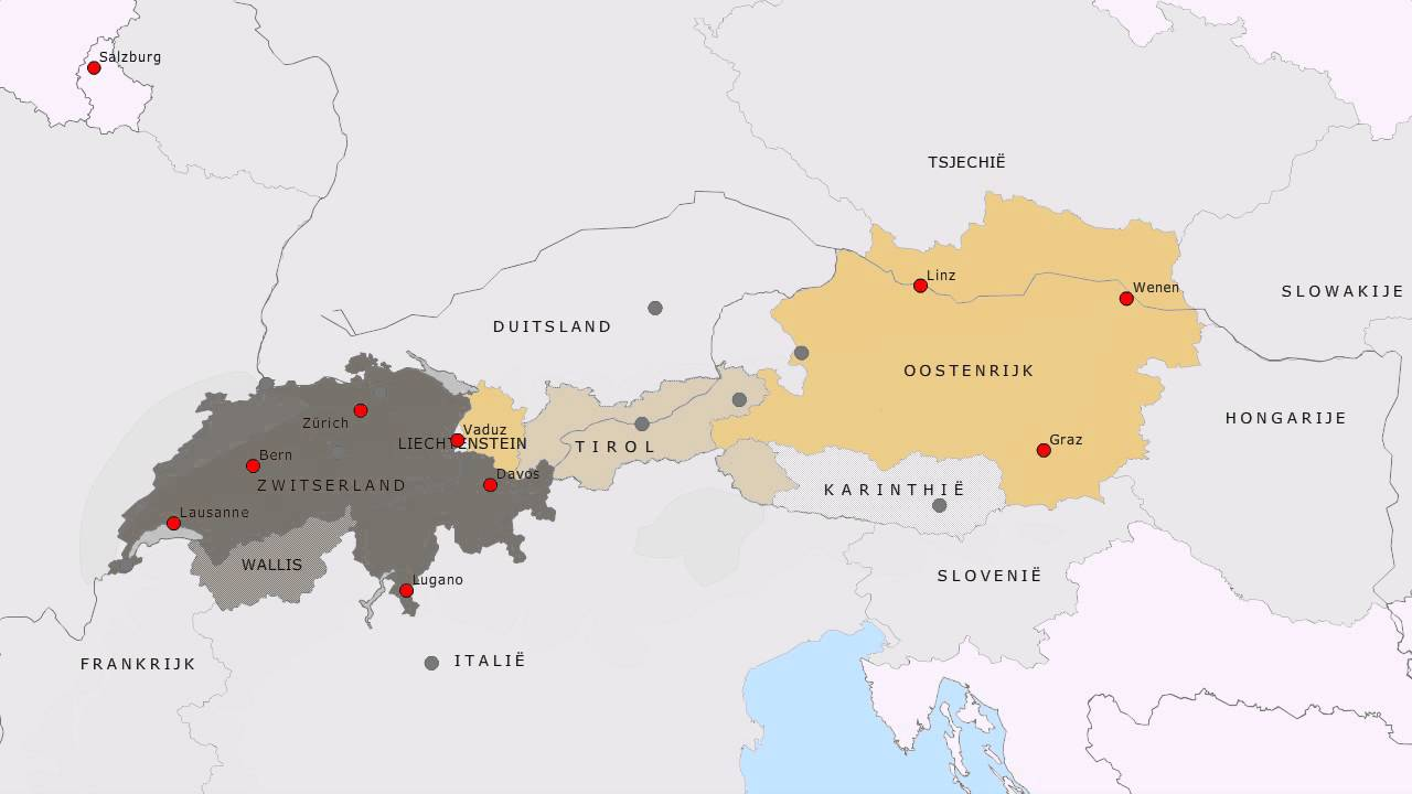 Topografie Zwitserland En Oostenrijk Www Topomania Net