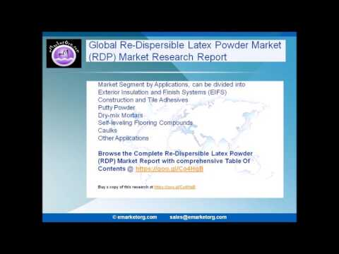 Re-Dispersible Latex Powder Market (RDP) is Expected to Grow by 2022