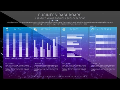 Beautiful Business Data Charts Dashboard Slide Design Tutorial in Microsoft Office365 PowerPoint PPT