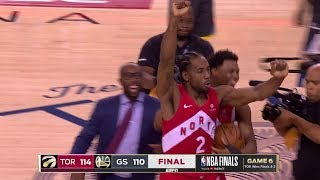 Final Seconds Of 2019 Nba Finals Game 6  Toronto Celebration  Raptors Vs Warriors