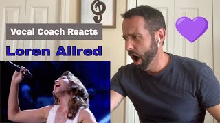 Vocal Coach REACTS to LOREN ALLRED singing NEVER ENOUGH