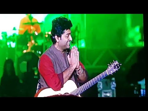 ARIJIT SINGH talking to fans in bengali | Eco park kolkata | Gima Mtv India Tour 2017