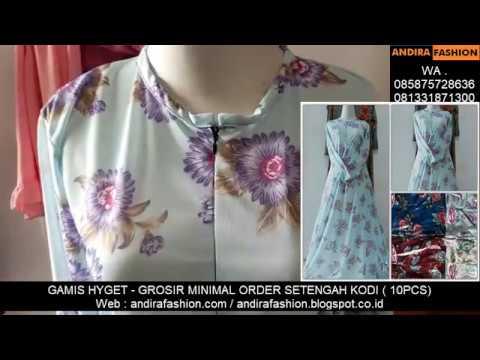 Pusat Grosir Gamis Hyget Rp 25 000 Andirafashion Youtube