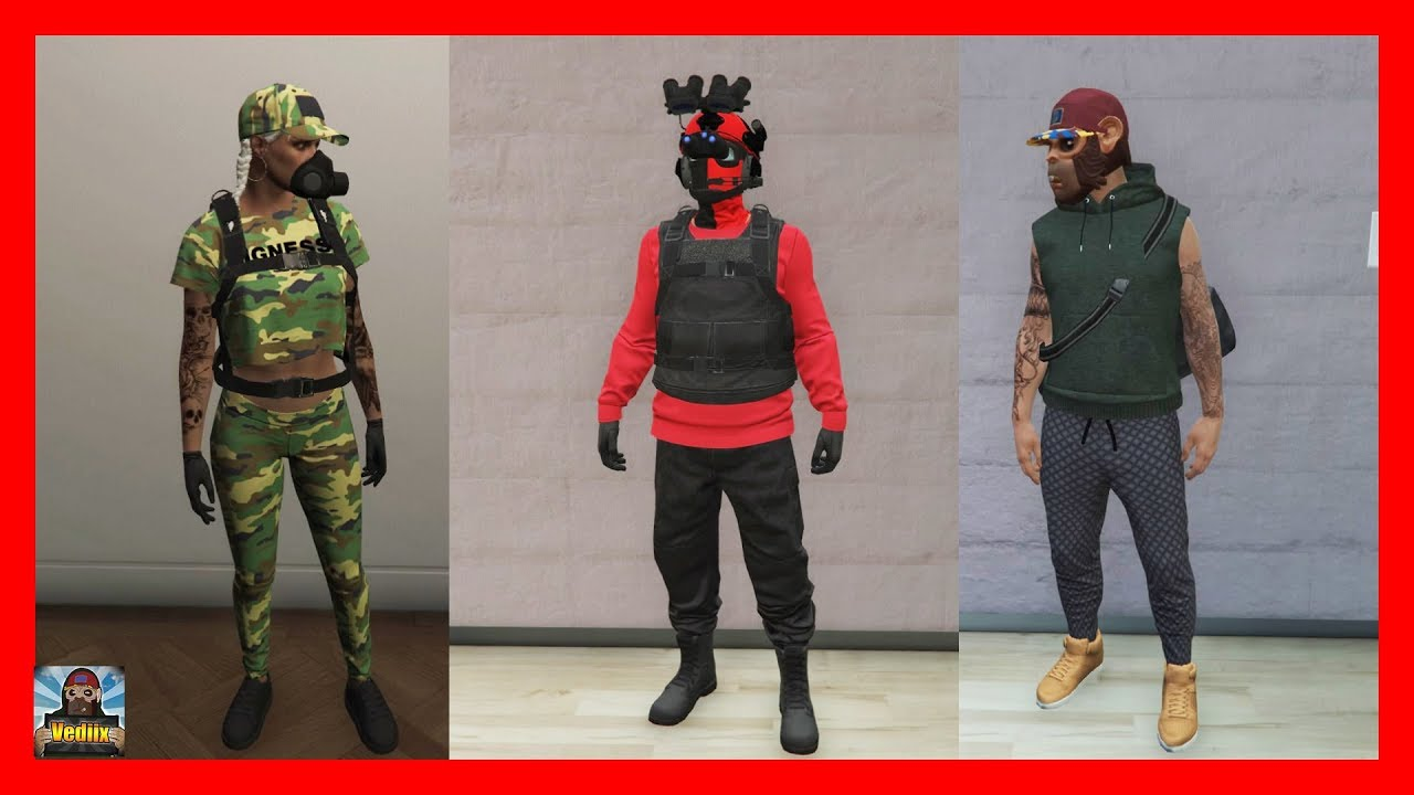 GTA 5 Online | TOP 3 RnG Outfits/ TryHard Outfitsud83dude0dud83dude31 | Modded Outfits | German - YouTube