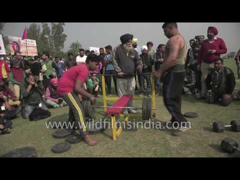 Punjabi weight-lifters stand up to bench press challenge