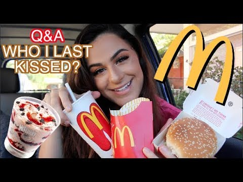 BIG MONALDS MUKBANG & ANSWERING JUICY QUESTIONS Q&A *ASMR*  Daniellasophia