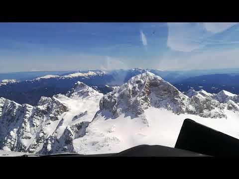 VFR flight over the Alps in Slovenia