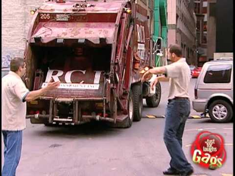 Keys into garbage truck prank