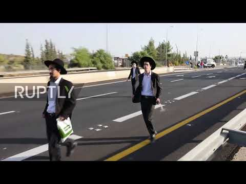 Israel: Police make arrests as ultra-Orthodox military protest turns violent