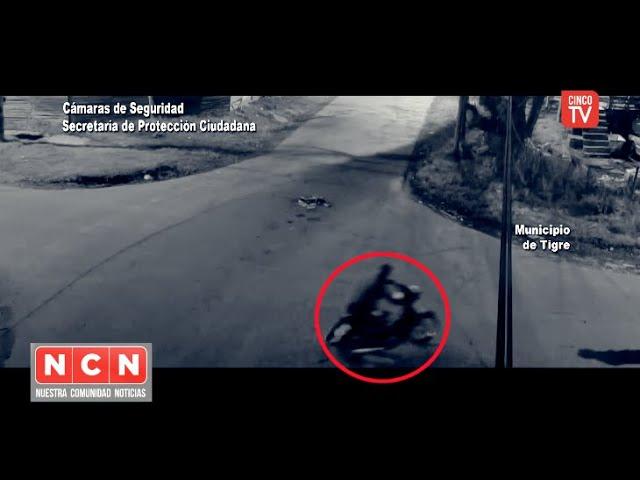CINCO TV  - El Sistema Alerta Tigre Global impidió el robo de una motocicleta en Milberg