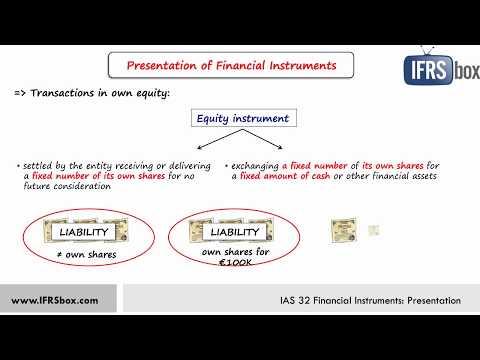 IAS 32 Financial Instruments: Presentation - summary