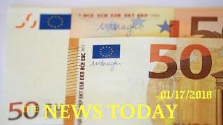 News Today 01/17/2018 | Donald Trump | Euro Surge Threatens Profitable Bond Trades