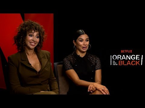 with Jackie Cruz & Diane Guerrero for Season 5 of Orange Is The New Black
