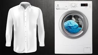Как стирать белую рубашку в стиральной машине