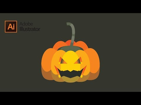 Flat Hallowen Pumpkin tutorial in Illustrator thumbnail