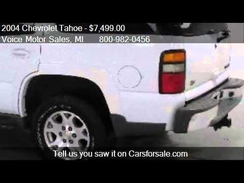 2004 chevrolet tahoe z 71 4x4 4 door for sale in for Voice motors kalkaska michigan