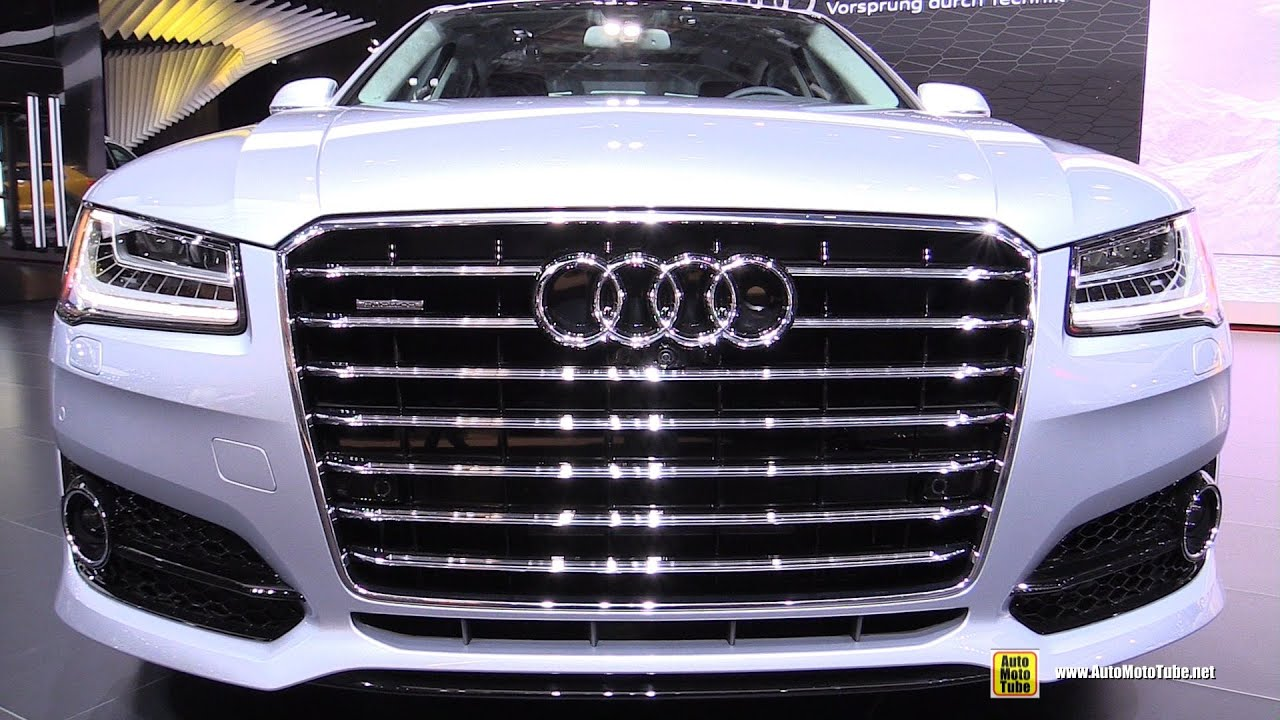 2016 Audi A8 L 4.0T Quattro   Exterior And Interior Walkaround   2016  Detroit Auto Show   YouTube