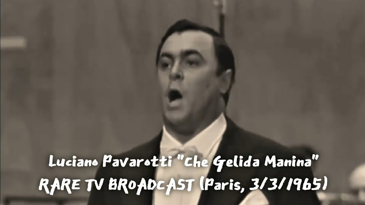 "Luciano Pavarotti ""Che Gelida Manina"" Paris, 3/3/1965 (Voice Remastering Version)"