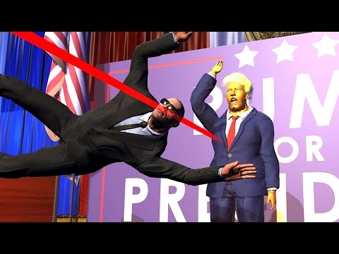 TAKING A BULLET FOR RUMP! - Mr President Gameplay