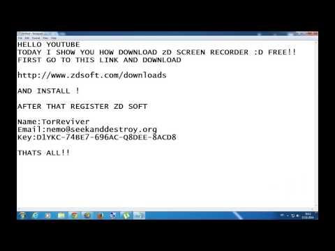 ZD soft screen recording crack