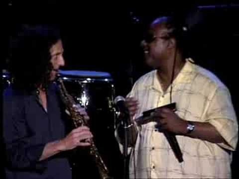 Kenny G and Stevie Wonder