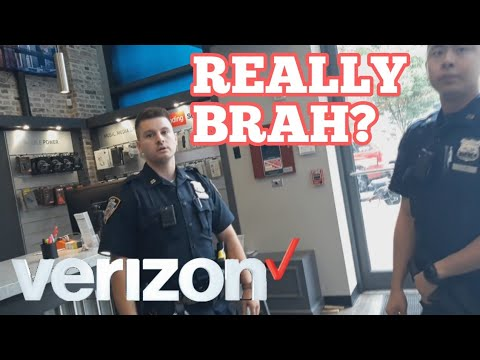 Verizon Wireless Employee Calls Police On Me For Trying To Make A Return (Police Removal) - QBM