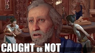 Phoibe Gets Caught VS Successfully Steals Clues (All Choices) - To Find A Girl - AC Odyssey