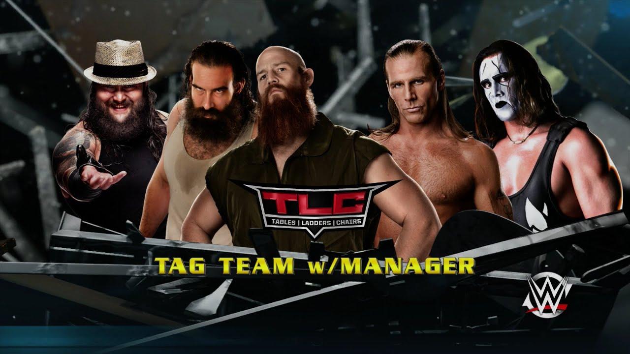 WWE 2K15 Universe TLC Sting Amp Shawn Michaels Vs The