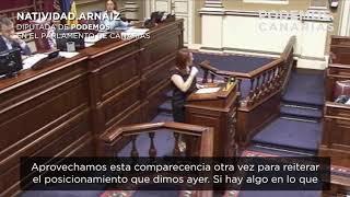Nati Arnaiz (Podemos) sobre la necesidad de planificar el turismo.