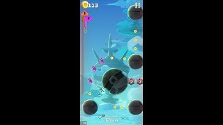 Cosmobot - Hyper Jump (by ANKAMA GAMES) - casual game for android and iOS - gameplay.