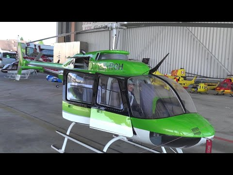 RC-Helicopter Huge Scale Jet Ranger Bell 206-B3 Turbine High detailed RC Model