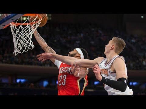 Anthony Davis 48 Points! Knicks Blew 19 Point Lead! 2017-18 Season