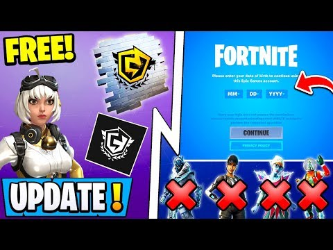*NEW* Fortnite Update! | All 13-Year-Olds Banned, Free Weekend Rewards, Duos Tourney!