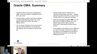 What is an Oracle OMA (Oracle Master Agreement)
