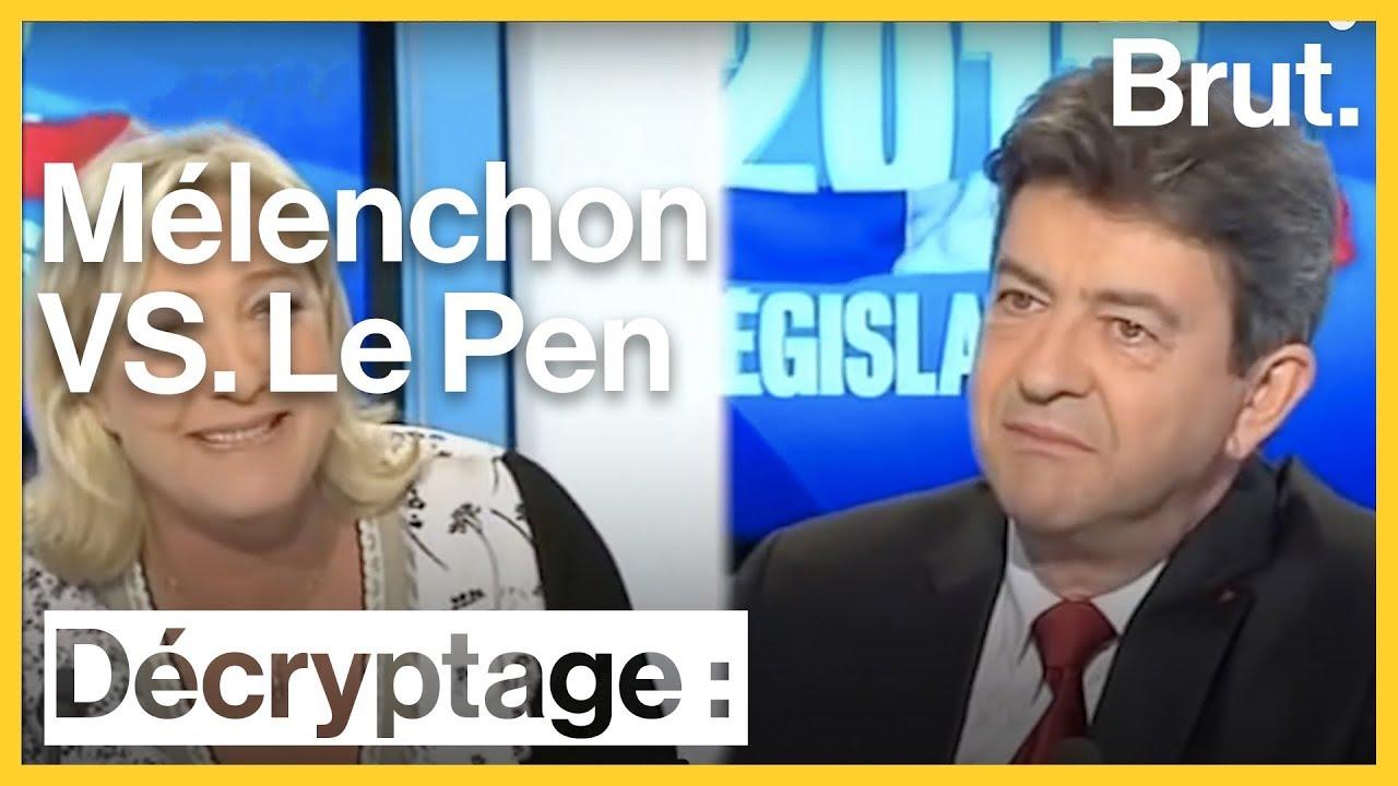 Mélenchon VS Le Pen : 15 ans de clash