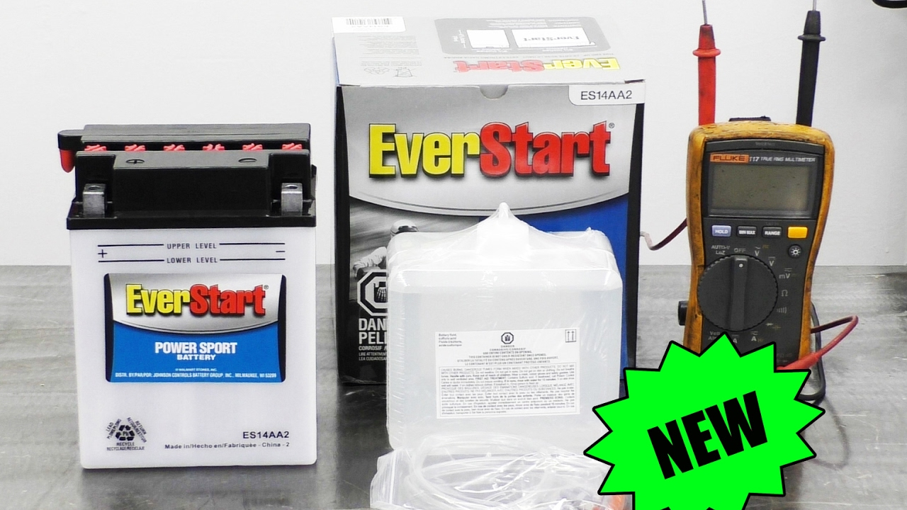 HOW TO FILL NEW ATV UTV BATTERIES WITH ACID TO PREVENT FAILURE - WALMART  EVERSTART