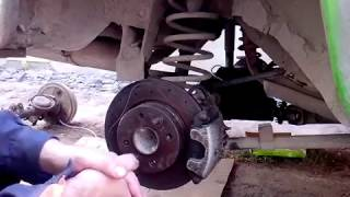 видео Задние дисковые тормоза на ВАЗ-2107: установка