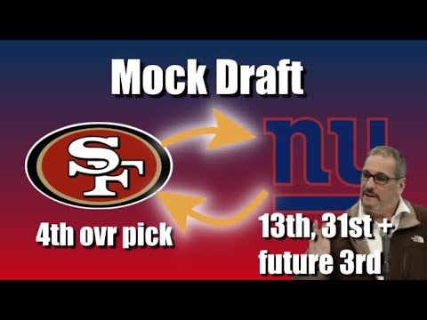 GIANTS DRAFT: Trading BACK With The 49ers! (212)