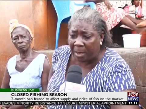 Closed Fishing Season - Business Live on Joy News (8-2-17)