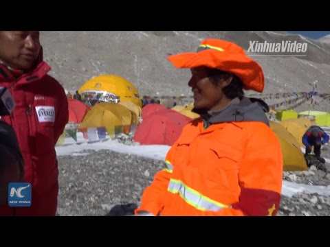 Aiming for world's highest peak: A look at Mt. Qomolangma base camp at 5,200m