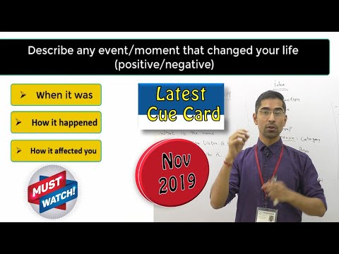 IELTS speaking Cue card : Describe any event/moment that changed your life (positive/negative)