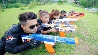 Hero Nerf War : Squad Alpha Man Special Police Nerf guns Hero Man rescue girlfriend Nerf War