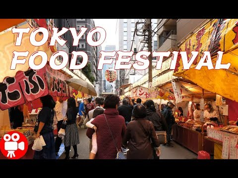Autumn Street Food Festival in Valley of Tokyo Buildings - 4