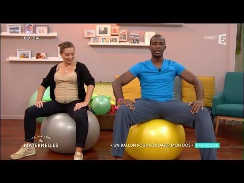Maux de dos pendant la grossesse : le ballon, votre meilleur allié !