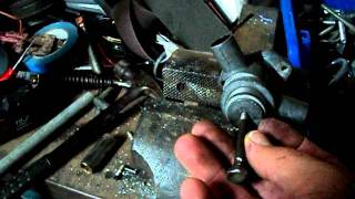 Disassembling mercedes benz Auxiliary Air Valve AKA Air Slide Valve Part 1