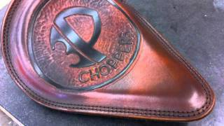 Custom leather Chopper Harley Davidson Motorcycle Seats and